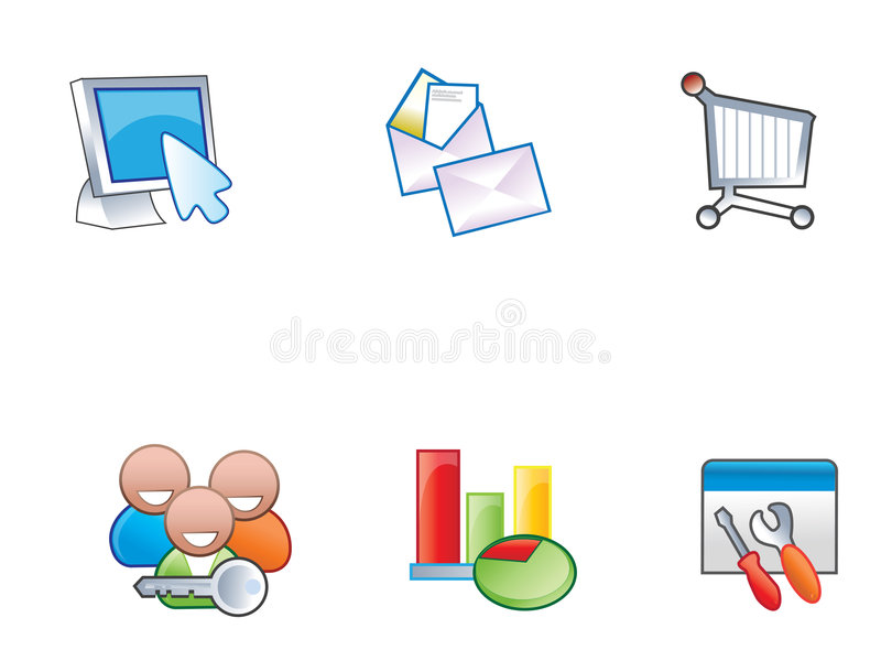 Download Web Icons stock vector. Image of illustration, latter - 6141855