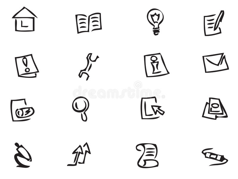 Download Web Icons stock vector. Image of icons, exclamation, connection - 6141870