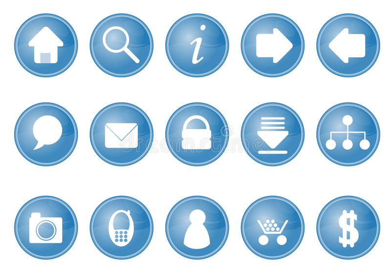 Web Icons. Symbols of basic web design icons vector illustration