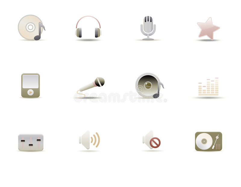 Download Web icons stock vector. Image of headphones, mute, isolated - 8084548