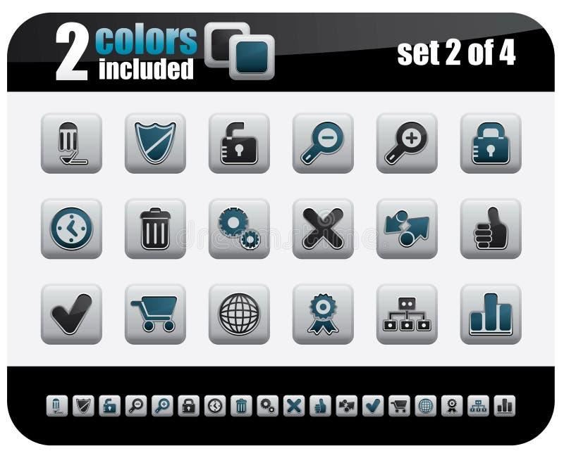 Web Icons. Set. Steelo Series. Set 2 of 4 royalty free illustration