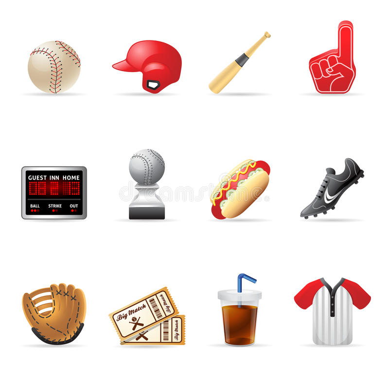 Web Icons - Baseball royalty free illustration
