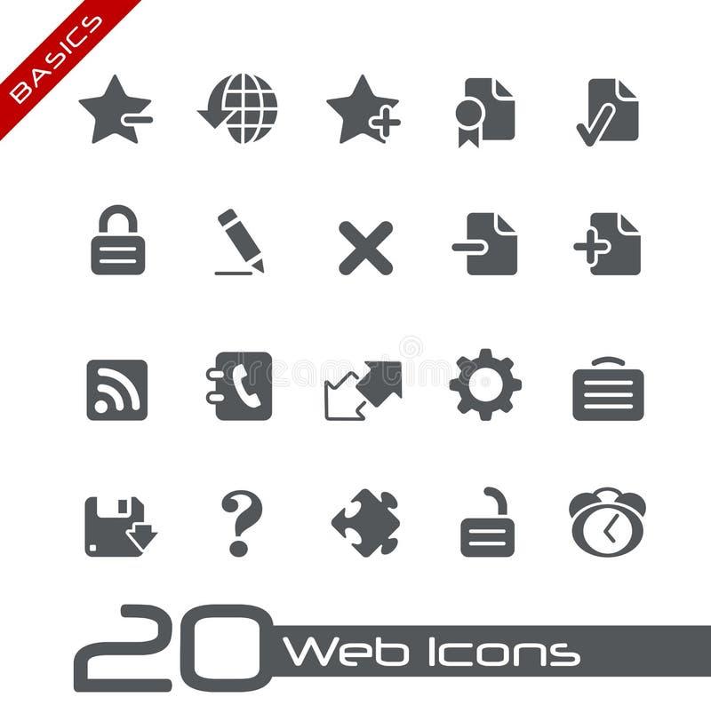 Web Icons // Basics royalty free illustration