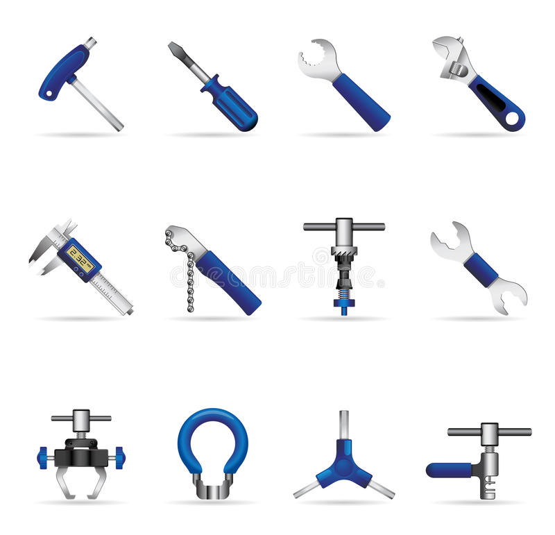 Web Icons - Bicycle Tools royalty free illustration