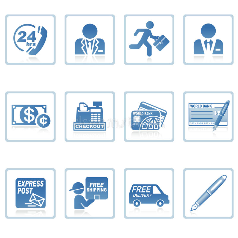 Web icons : business and finance III royalty free illustration