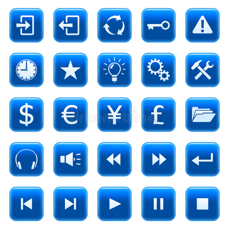Web icons / buttons 2 vector illustration