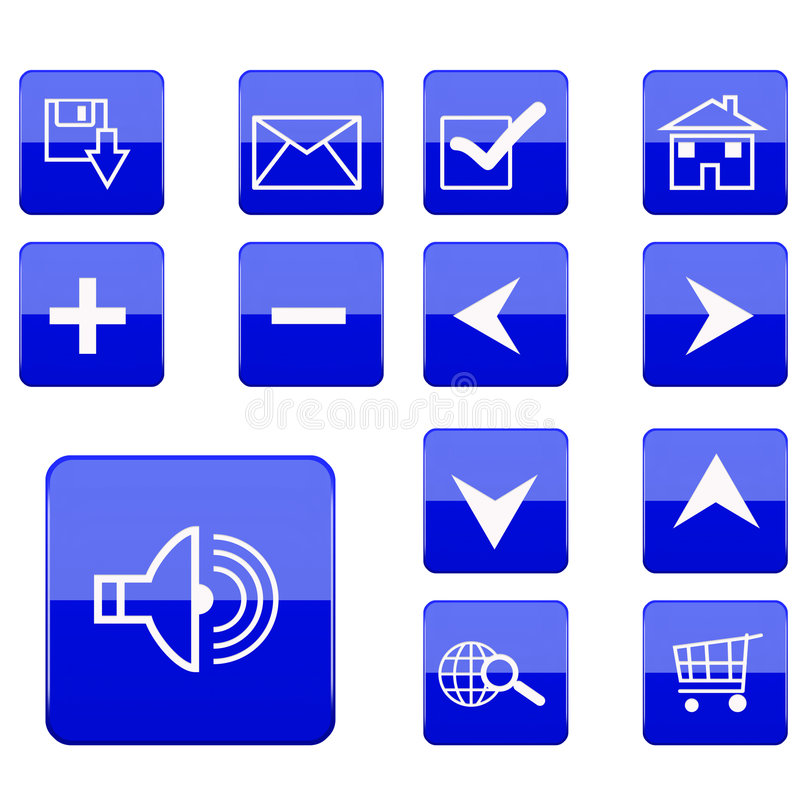 Web icons collection royalty free stock image