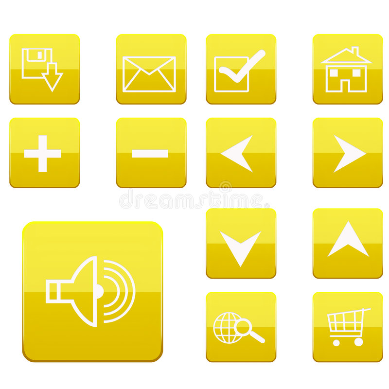 Web icons collection stock photos