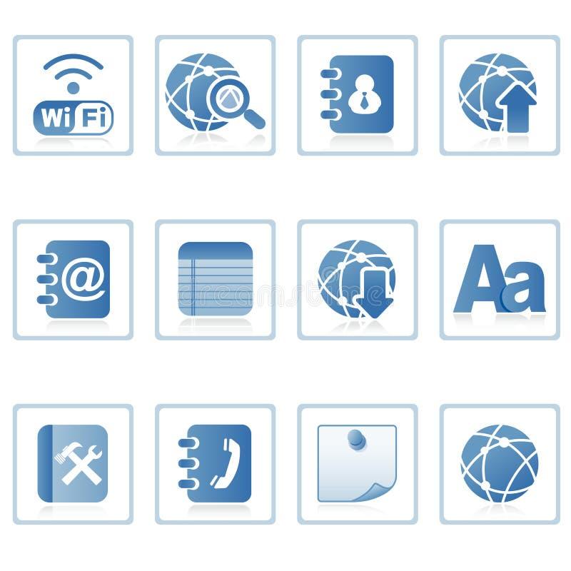 Web icons : communication on mobile royalty free illustration