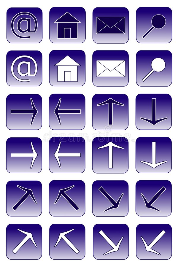 Web icons: dark blue 1 royalty free illustration