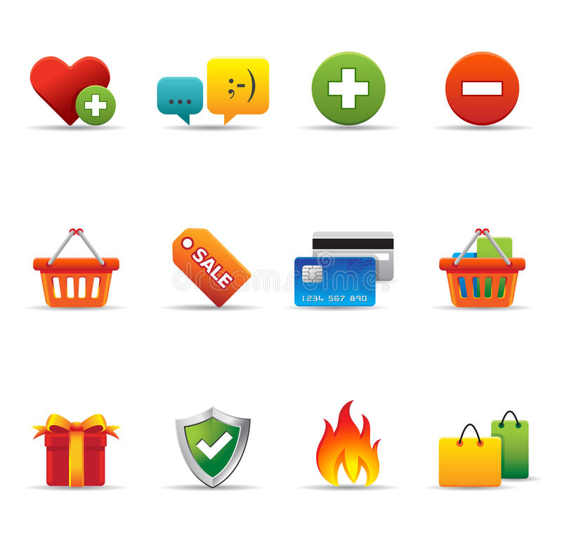 Download Web Icons - Ecommerce Royalty Free Stock Photography - Image: 21074627