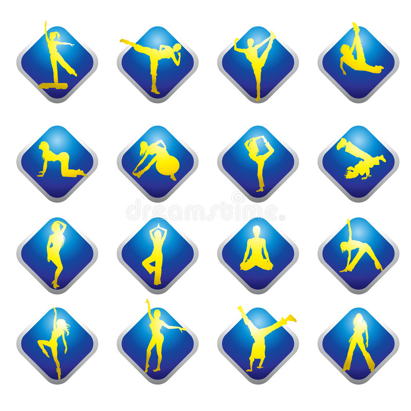 Download Web Icons - Fitness Stock Photo - Image: 9137920