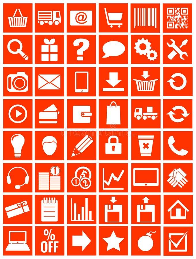 Free Web Icons For Eshop, Flat Design Stock Image - 33053471