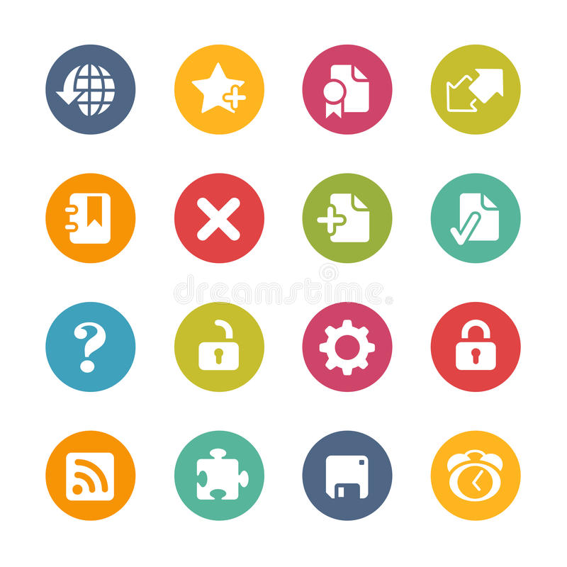 Web Icons -- Fresh Colors Series vector illustration