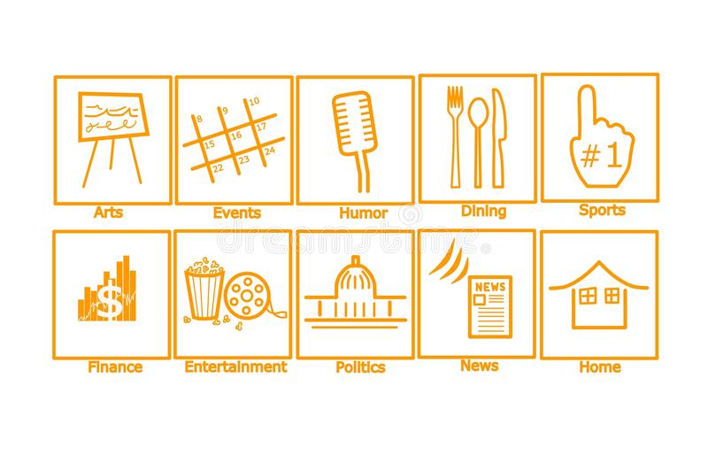 Download Web Icons Glossy stock illustration. Illustration of home - 15102909