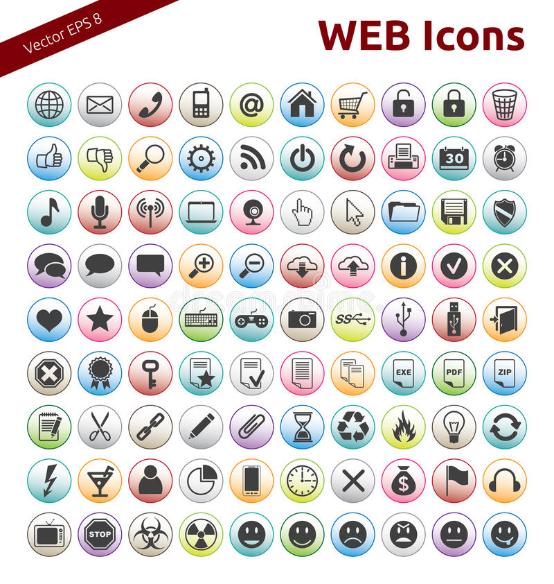 Web Icons royalty free illustration