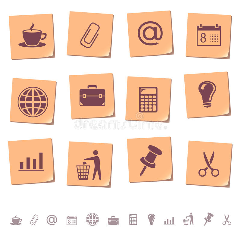 Web icons on memo notes 2 vector illustration