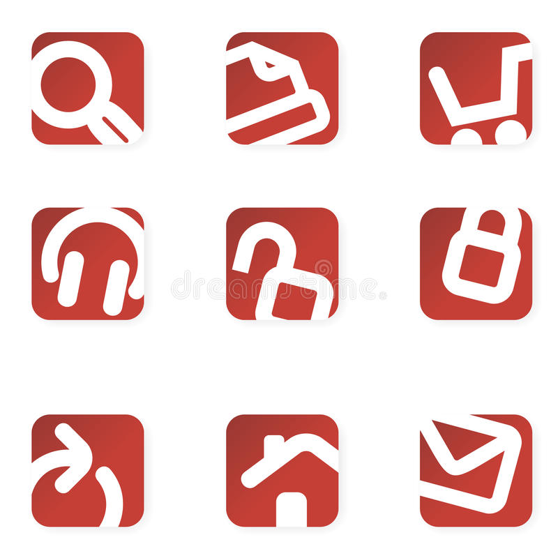 Download Web icons. Minimalist. stock vector. Image of icon, print - 14043255