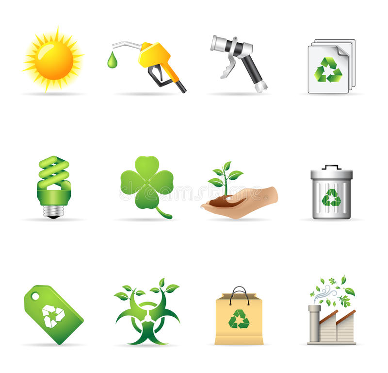 Web Icons - More Environment vector illustration