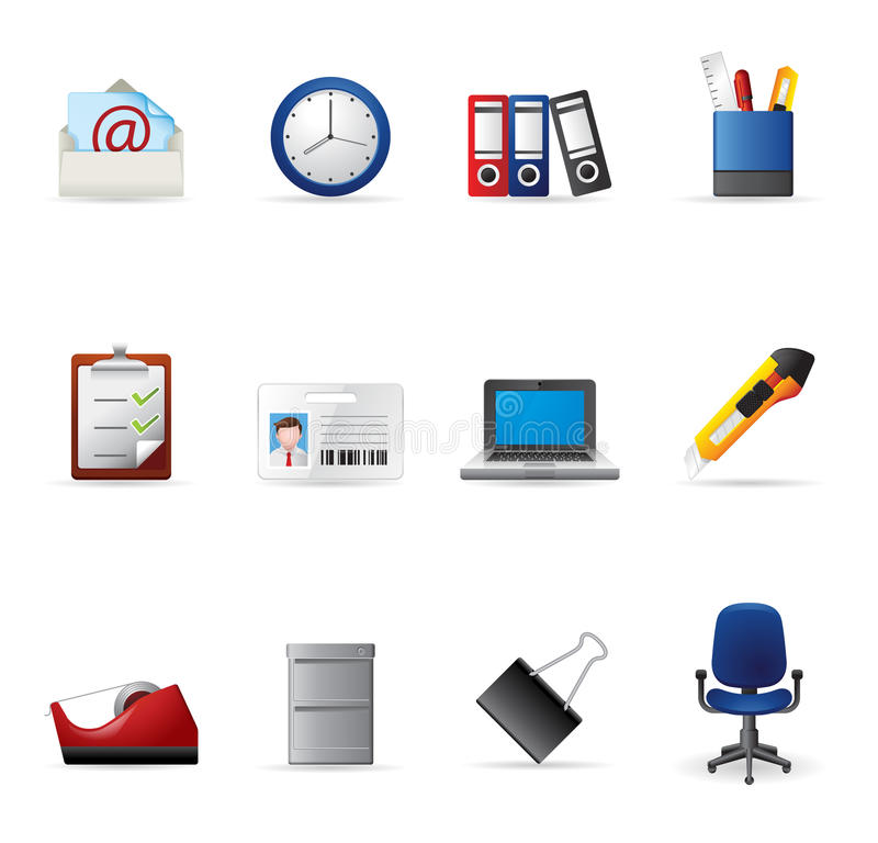 Download Web Icons - More Office stock vector. Illustration of clip - 23594966