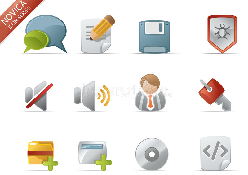 Web Icons - Novica Series #4 royalty free stock photography