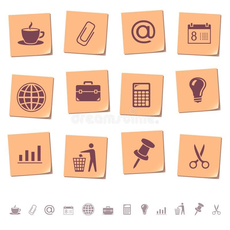 Free Web Icons On Memo Notes 2 Royalty Free Stock Photos - 11314178