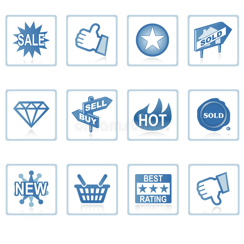 Web icons : Online Shopping 1. A set of web icons with light shadow