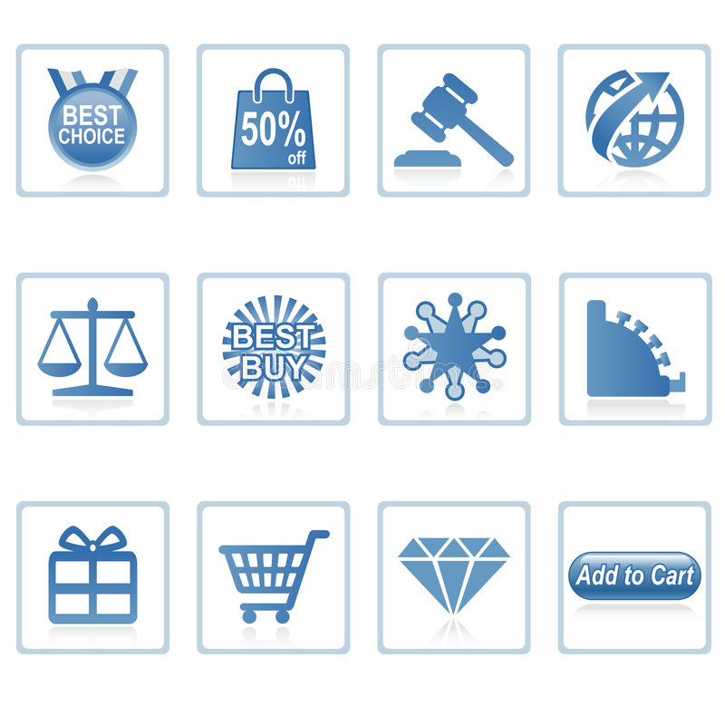 Web icons : Online Shopping 2. A set of web icons with light shadow