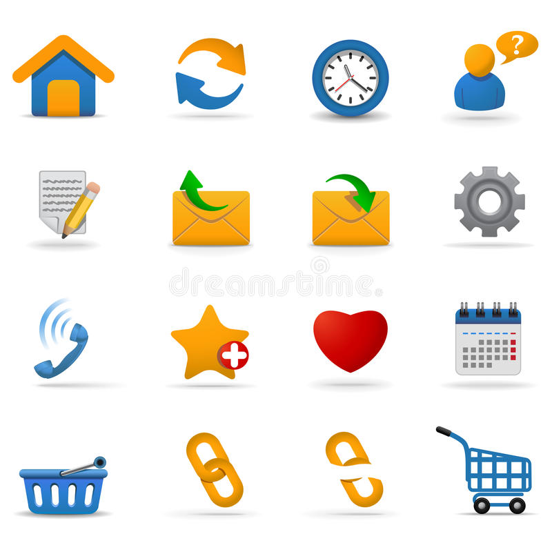 Web icons. Part 2 stock illustration