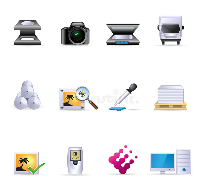 Web Icons - Printing & Graphic Design vector illustration
