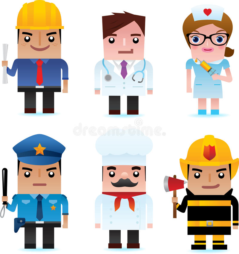 Web Icons - Professional People stock illustration