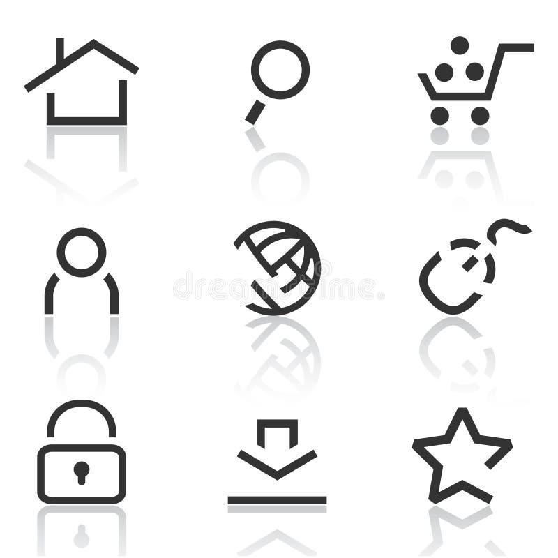 Web Icons Set 1 Stock Images