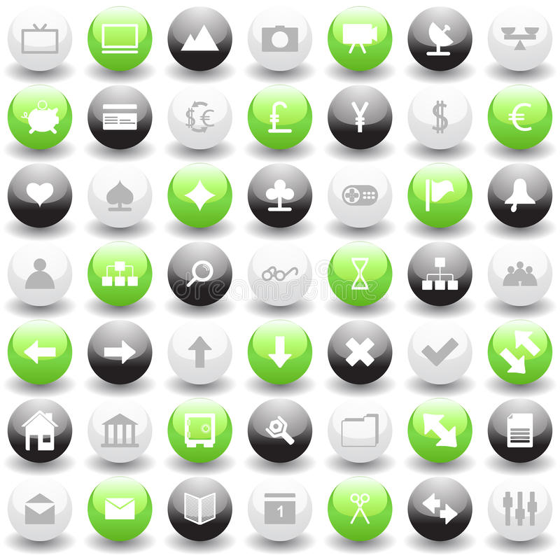Web Icons Set Royalty Free Stock Photos