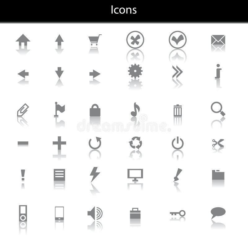 Web icons set royalty free illustration