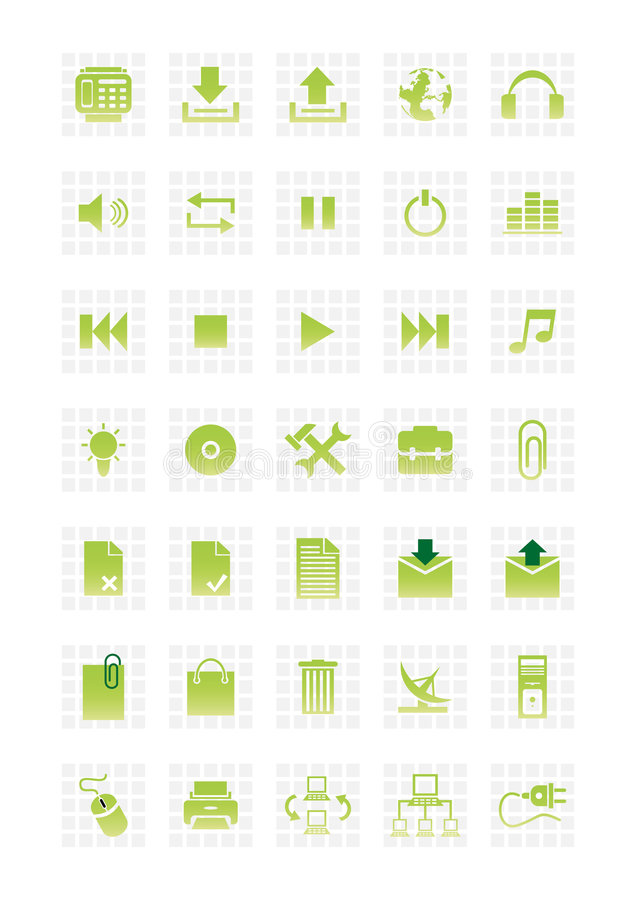 Free Web Icons Set 2 Stock Image - 4688641