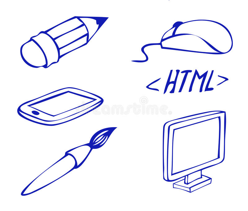 Download Web icons set stock vector. Image of monitor, graphics - 27883686