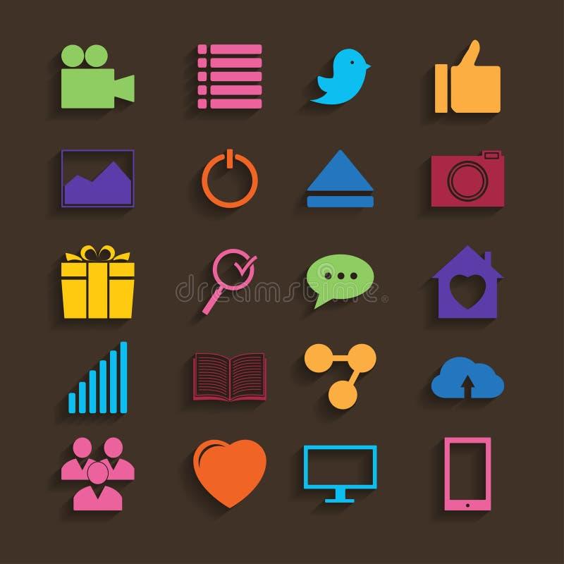 Web Icons Set in Flat Design royalty free illustration