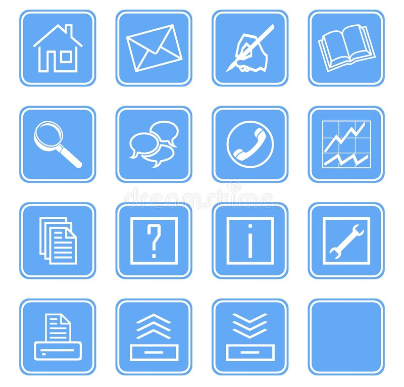 Download Web Icons Set No.2 - Blue.1 Stock Illustration - Image: 5755690