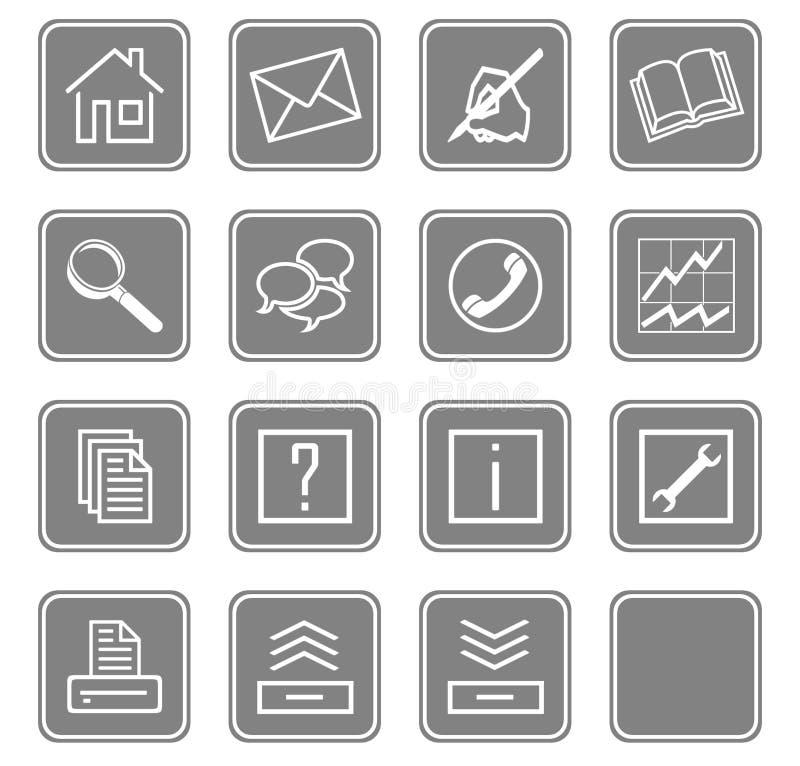 Web icons set no.2 - gray.2 royalty free illustration