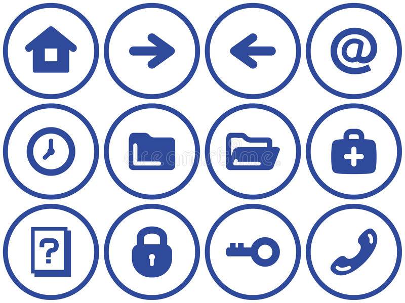 Download Web Icons Set (Vector) Stock Photography - Image: 9677762