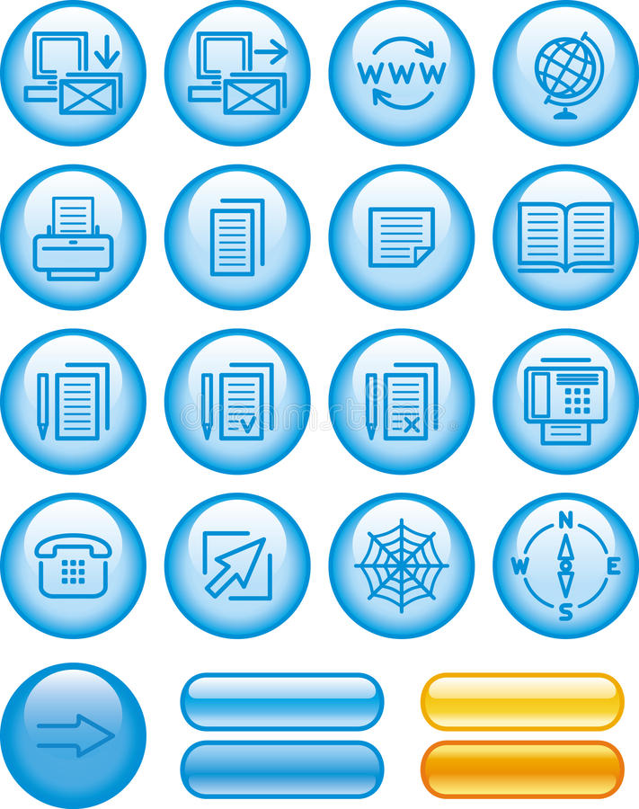 Download Web Icons Set (Vector) stock vector. Image of mail, icon - 9801353