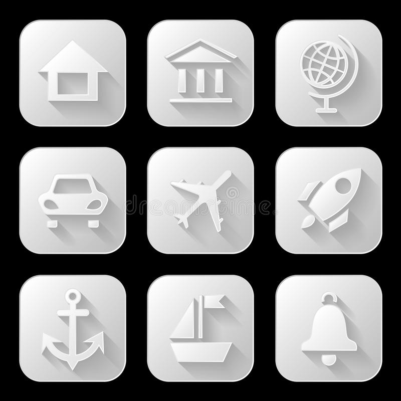 Download Web icons set stock vector. Illustration of icons, travel - 42071037