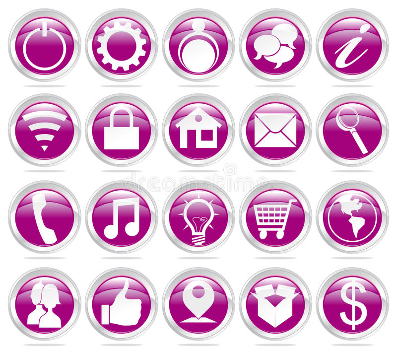 Download Web icons stock vector. Illustration of comunity, email - 29706664