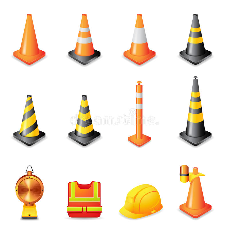 Free Web Icons - Traffic Warning Sign Royalty Free Stock Photos - 23595038