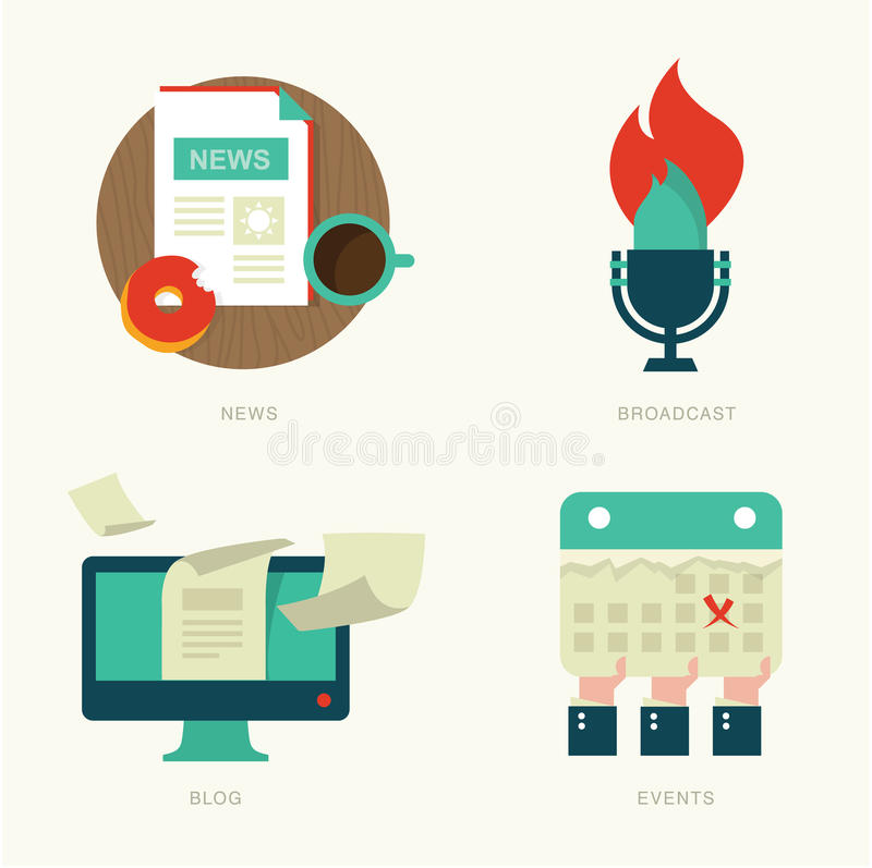 Web icons stock illustration
