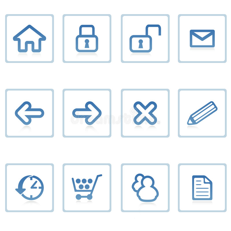 Web icons : website and intern stock illustration