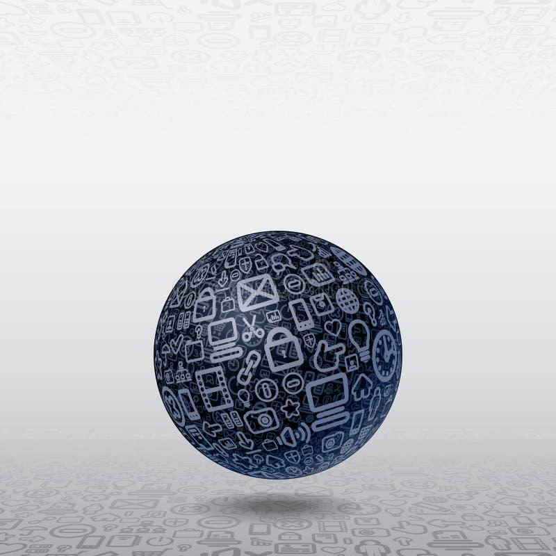 Web Icons World stock illustration