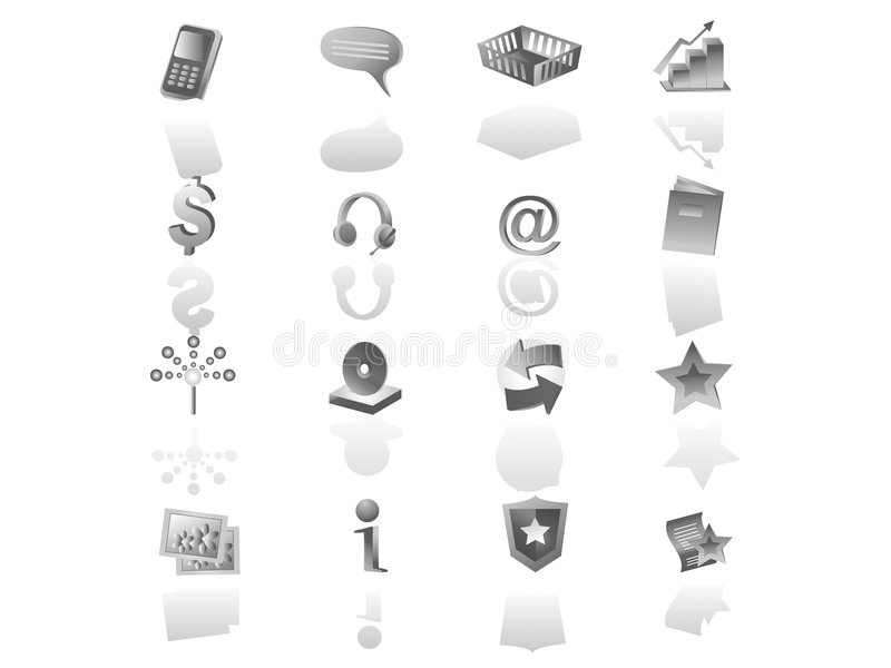 Download Web iconset stock illustration. Image of button, cart - 3274258