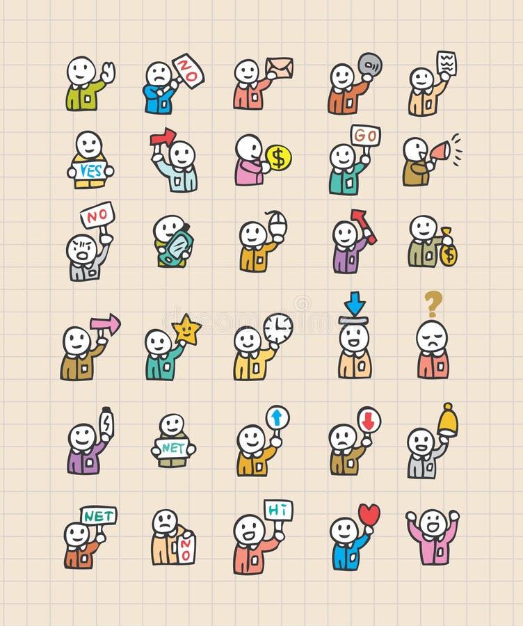 Web-Ikone mit Leuten stock abbildung