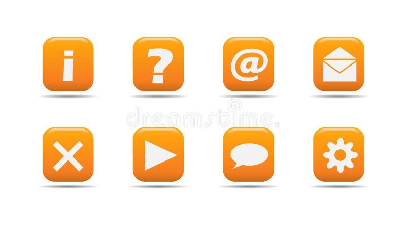 Web-Ikone stellte 3 ein| Aprikosenserie stock abbildung